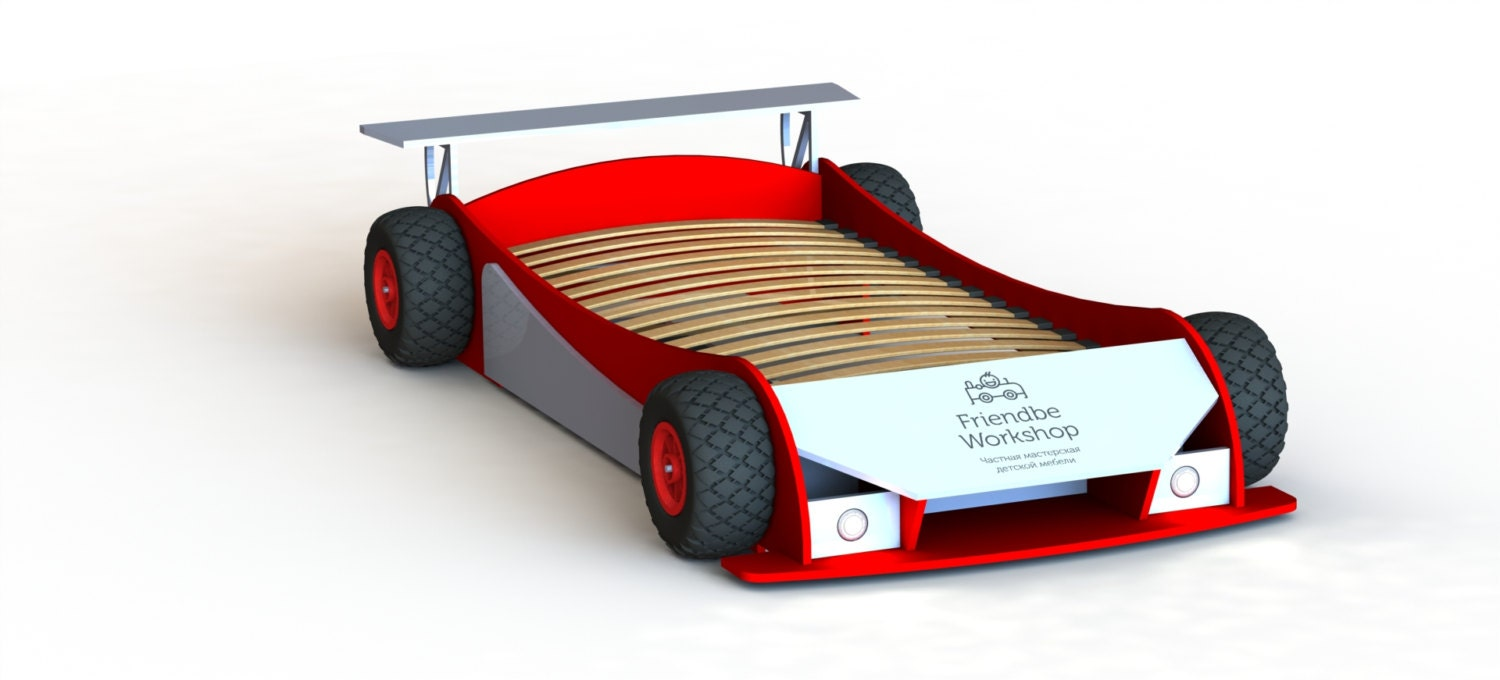 DIY plans (twin) - Race car bed plans (twin size) from ...