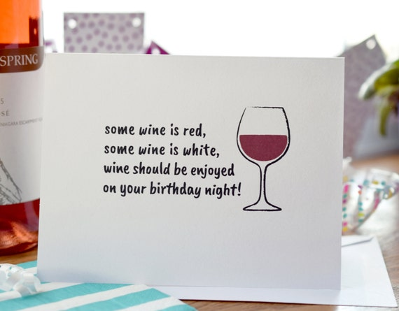 Birthday card wine lover happy birthday wine card birthday like this item bookmarktalkfo Image collections