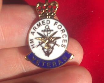 Armed forces veterans pin