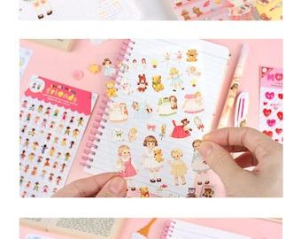 Paper Doll Mate Deco Sticker S093