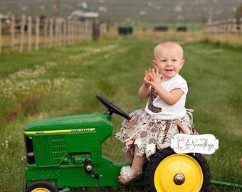 Fabric Tutu, country tutu, Cowgirl Barn Country, Shabby Chic Fabric Tutu, country birthday tutu, first birthday tutu, country baby tutu UD