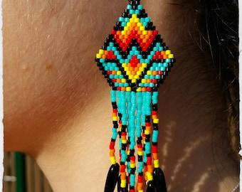 Woven earrings Indian style clip-on earrings.