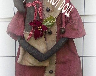 Santa epattern-NOT DoLL, CHRISTmas  Primitive jingles Kringle 117e Crows Roost Prims epattern immediate download