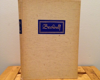 Beowulf - Translated Into Verse by William Ellery Leonard and Illustrated by Lynd Ward - Vintage 1939 Heritage Press Hardcover Book