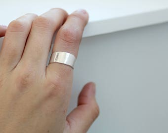 Mirror Band - Recycled Sterling Silver