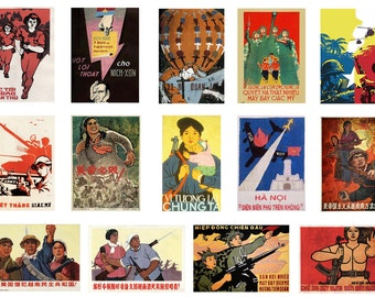 1:32 scale model North Vietnam wartime propaganda war posters