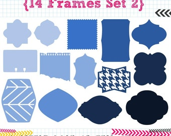 14 Frames SET 2 SVG DXF cut files