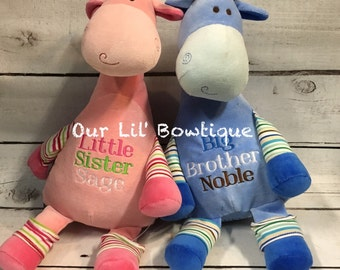 Giraffe cubbie etsy personalized stuffed animal subway art baby gift personalized cubby birth announcement new negle Gallery