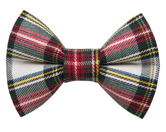 "Cat Bow Tie - ""The Let's Be Jolly"" - Holiday Plaid"