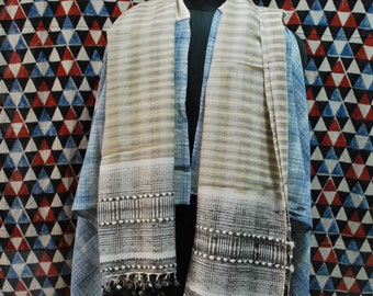 Handspun+Handwoven Traditional Wool Stole