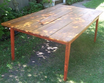 Pine Farm Table from reclaimed barn lumber