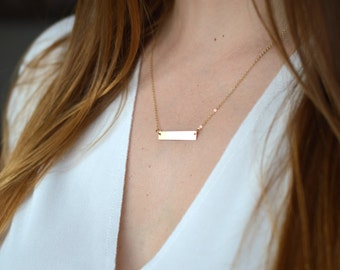 Collar to customize bar gold filled * yellow gold 14 k