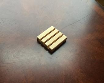 """Soap Dish Cedar Wood 3""""x 3"""" x 5/8"""""""
