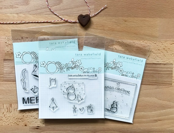 Snowflakes on my Nose // Snowman Christmas // clear stamp set // paper crafting