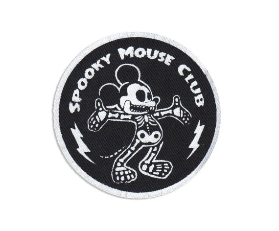 Spooky Mouse Club Stitch-On Patch