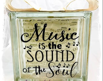 Glass Block Light - Music is the sound of the soul