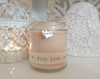 Good Luck (with love) Scented Soy Candle Gift