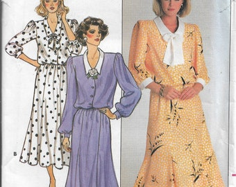 Butterick 3654      Misses Dress with Gored Skirt   Size 8,10,12      Uncut