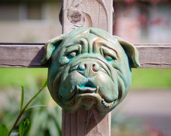 English Bulldog in Copper Verdigris