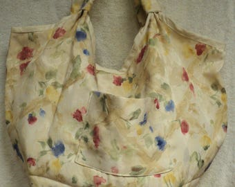 Watercolored Flowered over sized bag