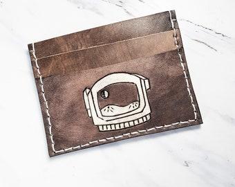 Mens Astronaut wallet, mens pocket wallet, mens minimalist wallet wallet, Spaceman wallet, unisex wallet
