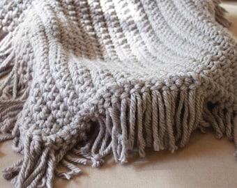 Newborn Photo Prop Chunky Gray Fringe Baby Blanket Photography Prop Basket Filler Basket Stuffer