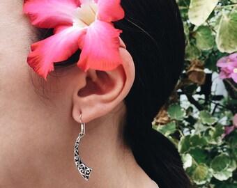 Long dangly sterling silver earrings (R17)