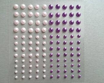 Set of 120 stickers beads (glass rhinestones)