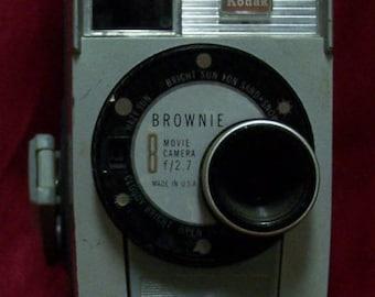 Brownie 8  Movie Camera Made in USA Kodak