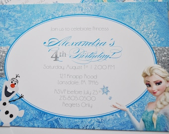 Frozen Inspired Birthday Invitation