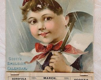 Scott's Emulsion Calendar 1890