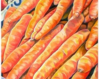 carrots at the market - carote - vegetable - orange color