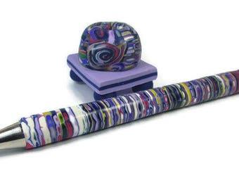 Desk Accessory, Pen Set, Blogger Pen Set, Desk Pen Accessory, Ballpoint Pen, Office Pen Set, Teacher Pen Gift, Desk Pen Set, Rainbow Pen