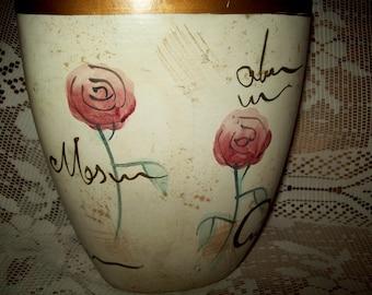 A medium ceramic decorative vase