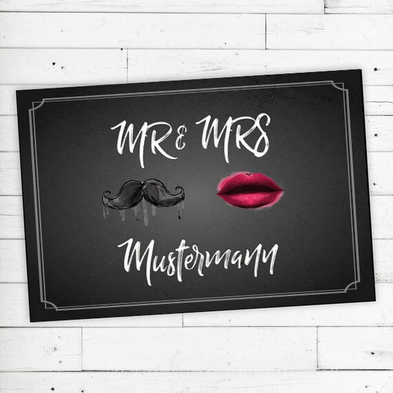 """Doormat Personalized with Name """"Mr & Mrs"""" 40X60"""
