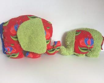 Plush mom and baby elephant-hug-stuffed animal-kids gift-baby baby shower gift-charity