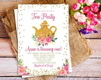 1st birthday tea party invitations forteforic 1st birthday tea party invitations filmwisefo