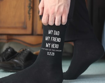 Father of the Groom Socks,  Personalized Custom Wedding Socks  for the Father of the Groom, Wedding Gift Ideas, Personalized Wedding Attire
