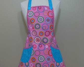 Girl's 10-12 Year Old Apron, Pink Apron