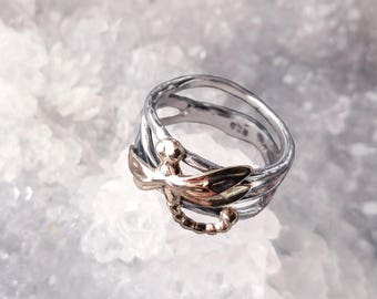 Dragonfly Ring, Dragonfly River Ring, Silver Ring, Sterling Silver Jewelry, Handmade Ring, Sterling Silver .925