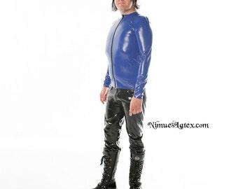 Men's Long Sleeve Shirt with Front Zipper