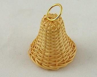 Vintage Wicker Bell Embellishment - Package of 2