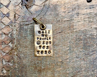 Call  MY PEOPLE Pet Tag™ Vintage Inspired Pet Tags™ by Sycamore Hill. Custom Dog Tag. Have Your People Call My People ID Tags. Pet I.D. Tag.