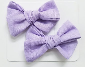 Lilac PIGTAIL bows, light purple pigtail bows, baby bows, girl bows