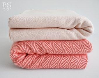 SALE 30 OFF/ Herringbone Blanket / Twin XL / Bedcover, Beach blanket, Sofa throw, Traditional, Tablecloth