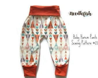 BABY HAREM PANTS Sewing Pattern - Baby Harem pants - Toddler Harem Pants -