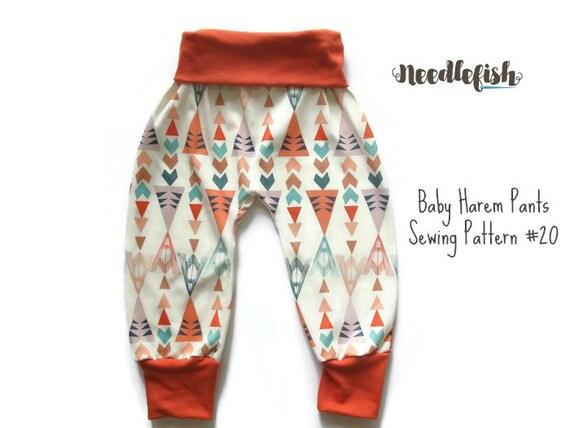 KIDS HAREM PANTS Sewing Pattern Baby Harem pants Toddler