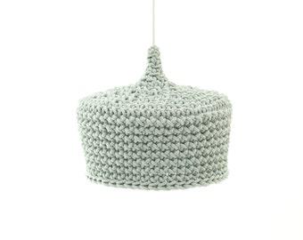 MINT  crocheted  LAMP