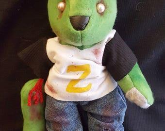 Zombie Baseball Fan Bear