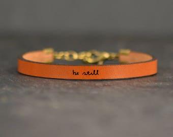 be still bracelet | deep breathe bracelet | isaiah 41:10 | simple bracelet | be still and know | be still and know | be still my soul |